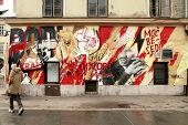 Graffitti On A Wall, Ljubljana, Slovenia.