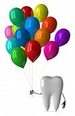 White Tooth With Balloons
