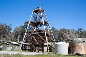 stock photo of gold mine  - A historic gold mine in Chewton - JPG