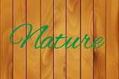 Nature on a wood texture