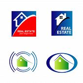 Real estate and construction icons logos