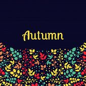 Autumn falling leaves background.Can be used for wallpaper,design of invitation,card, web page backg