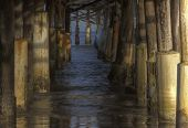From under the pier