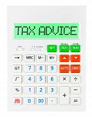 Calculator With Tax Advice