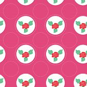 Floral Pattern With Roses On Light Background