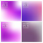 vector abstract blurred background. set
