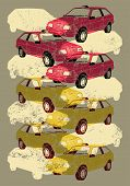 Taxi. Retro grunge poster. Vector illustration.