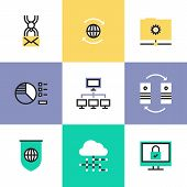 Global Data Technology Pictogram Icons Set