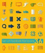 stock photo of offside  - It is a set of 36 football flat icons - JPG