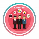 Business people on meet