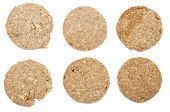 Oat Cookies Isolated On White
