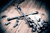 foto of dirty  - automotive tool  - JPG