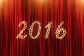 Concept For 2016 With Red Curtain