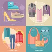 Fashion design clothes and accessories