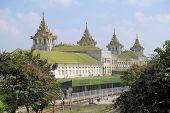 Railway station building in Yangon, Myanmar