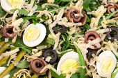 Salad with anchovies and asparagus