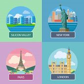 London, Silicon Valley, New York and Paris