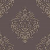 Wallpaper in the style of Baroquen. Abstract  Background with Golden Dots
