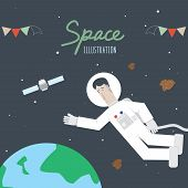 Space And Astronaut