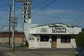 Historic Motel On Route 66 Road