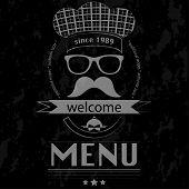 Menu Lunch Hipster - Chalkboard Poster