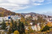 Panorama Of Karlovy Vary,czech Republic
