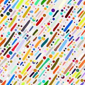 Pattern with hand drawn colourful stripes
