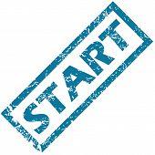 Start rubber stamp