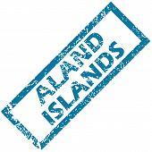 Aland islands rubber stamp