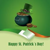 picture of irish flag  - Greeting card with St - JPG