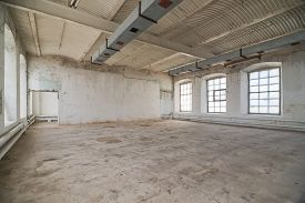 picture of warehouse  - Empty warehouse office or commercial area - JPG