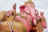foto of ganesh  - the beautiful Ganesh statue in thailand temple - JPG