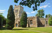 stock photo of mary  - English Village Church St Mary - JPG