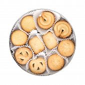 pic of oval  - Danish sweet butter cookies in oval box - JPG