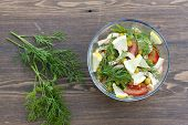 stock photo of squid  - Salad of cooked squid - JPG