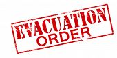 picture of eviction  - Rubber stamp with text evacuation order inside vector illustration - JPG