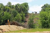 pic of pipeline  - Clearing the way for a natural gas pipeline - JPG