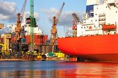 stock photo of shipyard  - Construction site in the Shipyard of Gdansk Poland - JPG