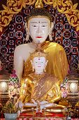 image of jade  - White jade buddha image was established in 2006 in thailand It was designed and carved in Burma - JPG