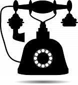 stock photo of rotary dial telephone  - Retro telephone - JPG