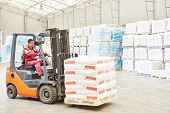 picture of forklift  - warehousing - JPG