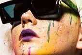 pic of queer  - Portrait of model wearing sunglasses - JPG