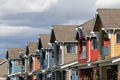 pic of row houses  - Row of modern houses in Vancouver BC Canada - JPG