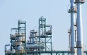 picture of petroleum  - frame structure of heavy petrochemical industry in petroleum energy industrial estate - JPG