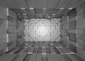 foto of three-dimensional  - Illustration of abstract mosaic three - JPG