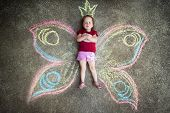 pic of pompous  - Little girl Butterfly - JPG