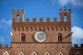 stock photo of piazza  - Palazzo Pubblico in Piazza del Campo Siena - JPG