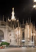 Milan Dome At Night