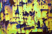 stock photo of rusty-spotted  - Background from rusty metal - JPG