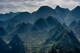 stock photo of plateau  - Dong Van Karst Plateau Global Geopark is located in the northeastern province of Viet Nam - JPG